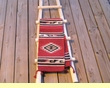 Rustic Pueblo Indian Style Wooden Kiva Ladders