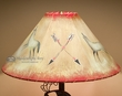 "Rustic Southwest Leather Lampshade -Wolf  20""  (OL11)"