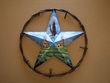 "Rustic Southwestern Metal Wall Star 12"" -Indian Village"