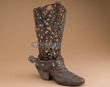 Rustic Tin Western Boot for Decor 14""