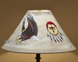 "Rustic Western Leather Lampshade 18"" -Eagle  (OL15)"