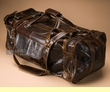 "Rustic Western Leather Travel Bag 22"" -Distressed Brown  (db11)"