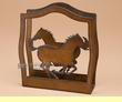 Rustic Western Metal Art Napkin Holder -Horse  (nh5)