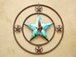 "Rustic Western Metal Barn Star 24"" -Eagle  (24)"