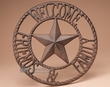"Rustic Western Iron Welcome Plaque 11""  (dk3)"