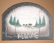 Rustic Cabin Slate Welcome Sign -Bears  (30)