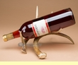 Rustic White Tail Deer Antler Wine Rack  (1)