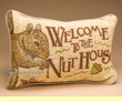 Rustic Wildlife Welcome Pillow 12x8 -Squirrel  (p46)