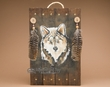 Rustic Hand Painted Wall Plaque 13x20 -Wolf  (P53)