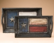 Rustic Wooden Western Serving Tray Set