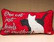 Pet Lover's Word Pillow 17x9 -Cats  (p48)
