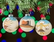 Sand Painted Navajo Indian Christmas Ornament Set   (co19)