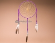 "Shoshone Indian Deerskin Dreamcatcher 10"" -Purple  (dc10-6)"