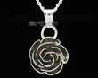 "Silver Rose Pendant Necklace 20"" -Navajo  (ij432)"