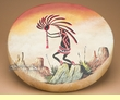 "Single Sided Painted Hand Drum 16"" -Kokopelli  (63)"