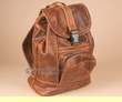 Small Genuine Leather Cowhide Back Pack -Book Bag  (bp4)