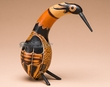 "Small Southwest Carved Andean Indian Gourd Bird 6.5""  (2)"