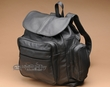 Soft Genuine Cowhide Leather Back Pack -Black  (bp1)