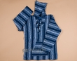 Soft Woven Baja Shirt Hoodie - Blue & White - Extra Large