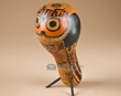 """Southwest Carved Andian Indian Gourd Bird -Owl 10""""  (3)"""