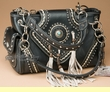 Concealed Carry Southwestern Purse -Black  (p467)