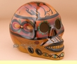"Southwest Day Of The Dead Skull 6.5"" -Kokopelli  (s13)"