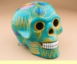 "Southwest Day Of The Dead Skull 6.5""  Turquoise (s14)"