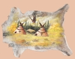 Southwest Decor Cow Hide 35x28 -Indian Village (43)