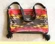 "Southwest Flat Bottom Acrylic Purse 14""x11"""