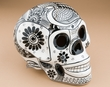 Southwest Hand Painted Day Of The Dead Skull  (s15)