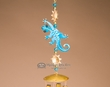 "Southwest Hand Painted Designer Wind Chime 26"" -Gecko"