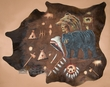 Hand Painted Cowhide Southwest Wall Hanging -Bear (53)