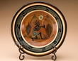 "Southwest Hand Painted Plate & Stand 10"" -Kokopelli  (p3)"