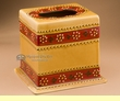 Southwest Hand Painted Talavera Pottery Tissue Box  (t11)