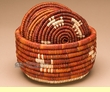 Southwest Hand Woven Six Coaster Set  (9)