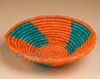 "Southwest Handwoven Palm Basket 8.75"" (p5)"