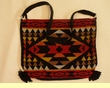 "Southwest Indian Style Flat Bottom Acrylic Purse 14""x11""  (39)"