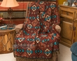Southwest Jacquard Throw Blanket 50x60 -Sierra  (t7)