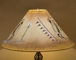 "Southwest Leather Lampshade 22"" -Kokopelli  (12b)"