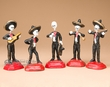 Southwest Mexican Clay Mariachi Band Set of 5  (p304)