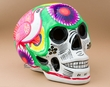 Southwest Painted Day Of The Dead Skull  (s18)