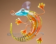 Southwest Painted Glass Designer Sun Catcher -Gecko
