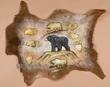 Southwest Painted Hide - Cave Art Bear 27x31 (ph27)