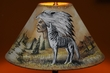 "Southwest Painted  Lamp Shade 16"" -Native Wolf   (PL73)"