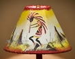 "Southwest Painted Leather Lamp Shade 10"" -Kokopelli   (108)"