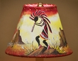 "Southwest Painted Leather Lamp Shade 8"" -Kokopelli   (110)"