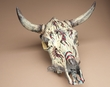 Southwest Painted Steer Skull -Kokopelli  (73)