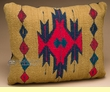 Southwest Pattern Pillow - Hand Woven Zapotec 12x16 (12a)