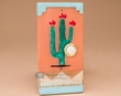 Southwest Saltillo Tile Door Bell Button -Cactus  (db3)