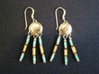 Southwest Sterling Silver Earrings -Native Mandellas (80)